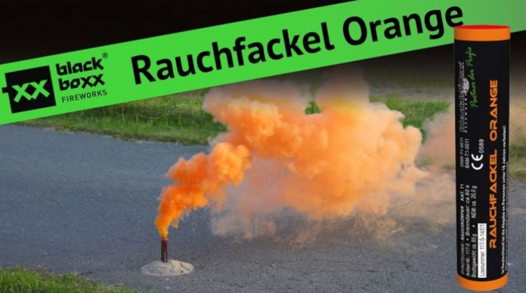Rauchfackel orange 5er Pack Bild 2